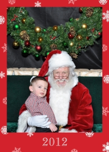 Connor and Santa