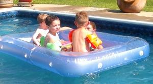 Rafting fun! (Ben is hiding behind Connor)
